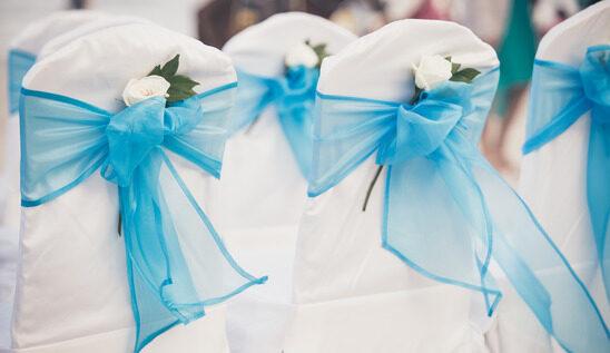 Coś niebieskiego? - kolor dekoracji sali weselnej