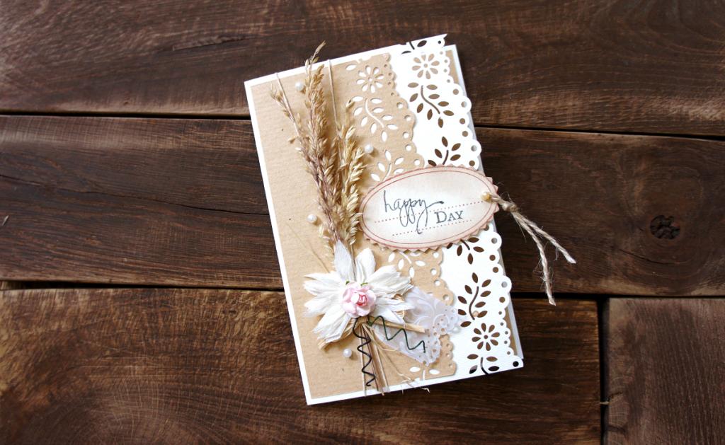 Życzenia ślubne na ręcznie robionej kartce