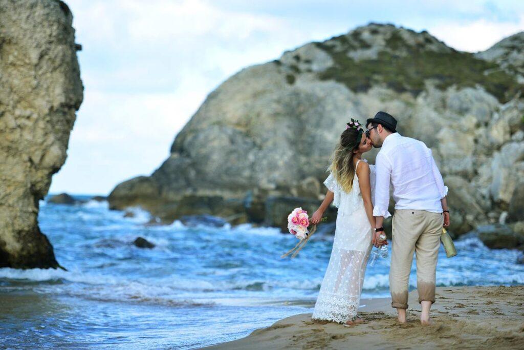 ślub w Grecji na plaży