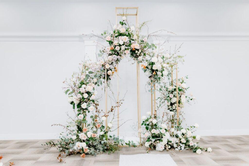 Ścianka weselna boho