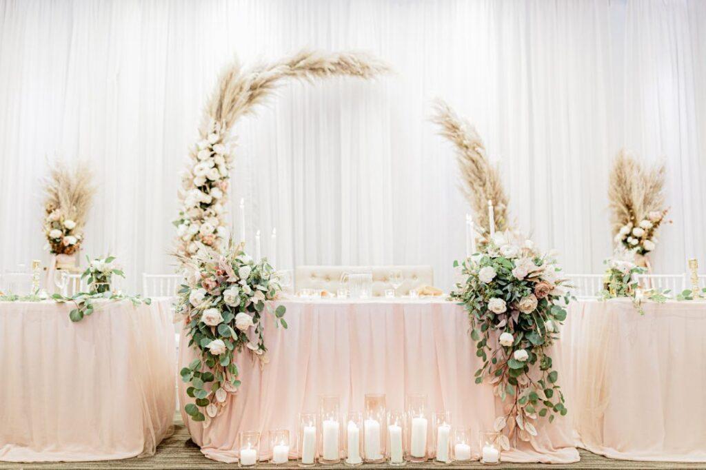 Ścianka weselna w stylu boho