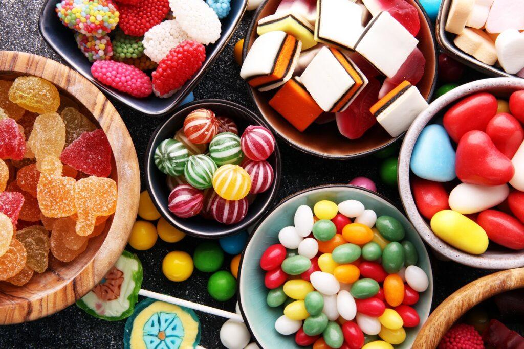 Żelki na tort ze słodyczy