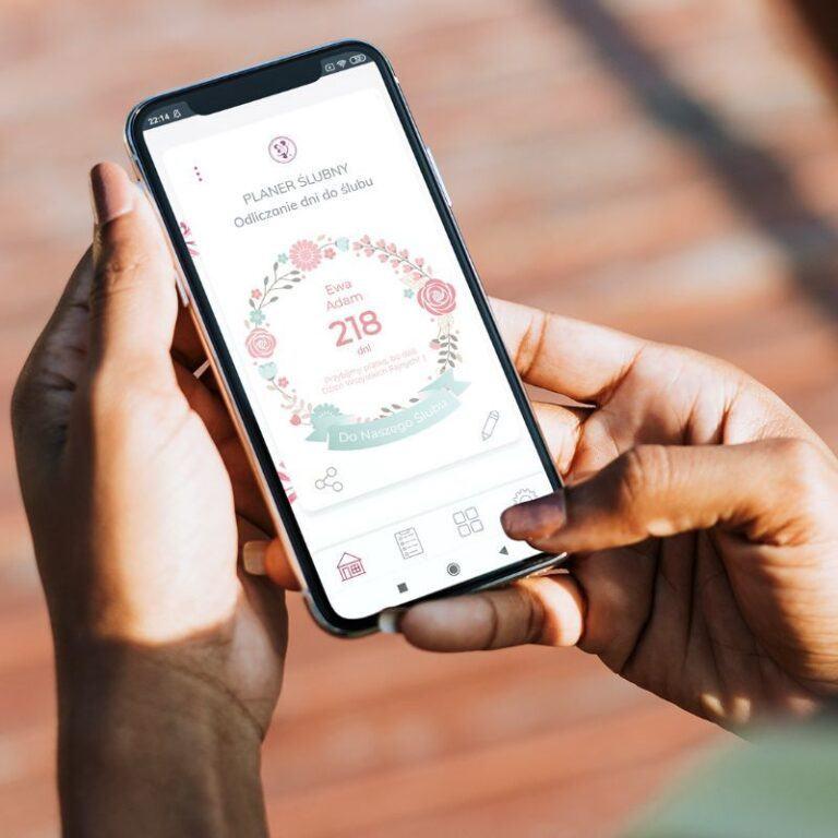 organizer ślubny aplikacja mobilna odliczajaca dni do ślubu